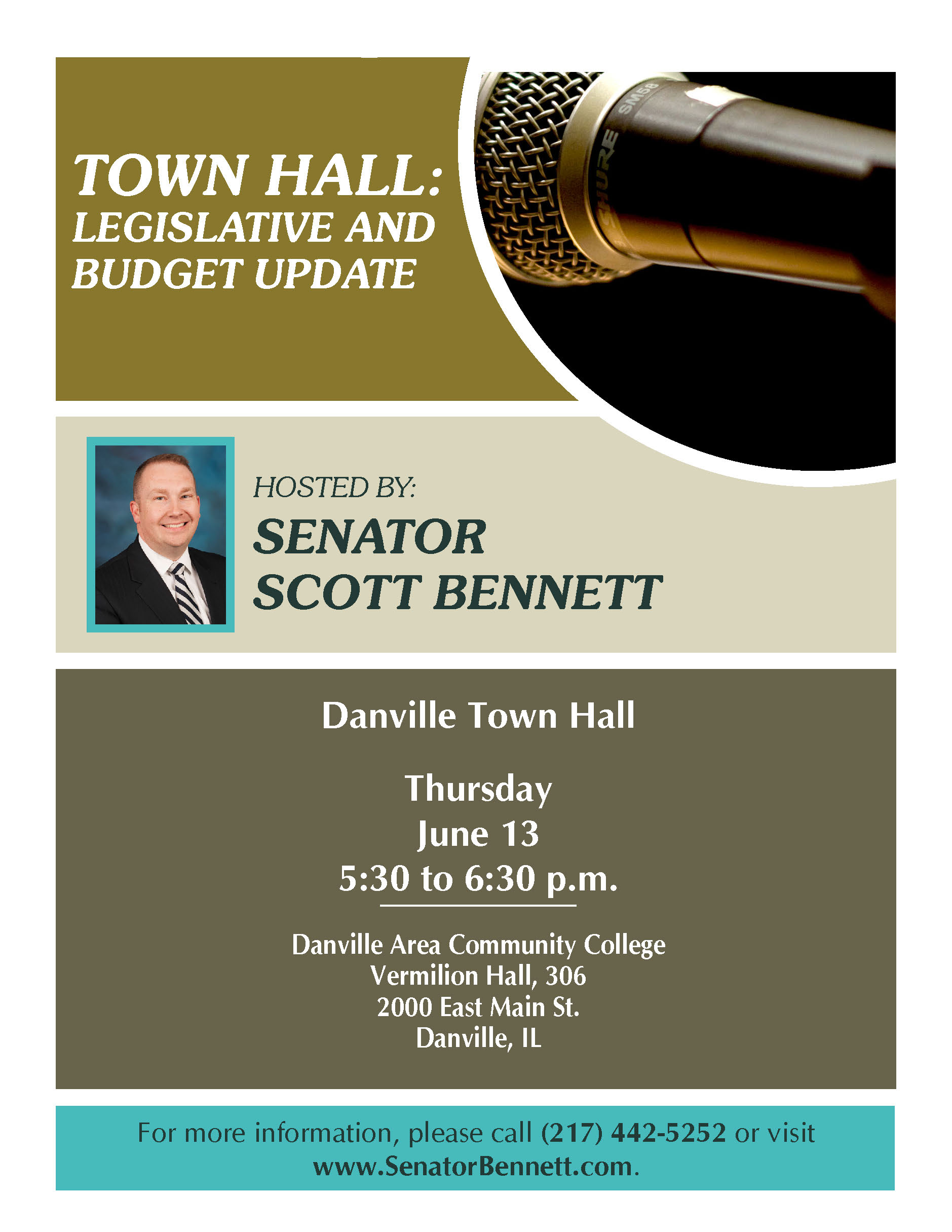 Bennett DV Town Hall flyer