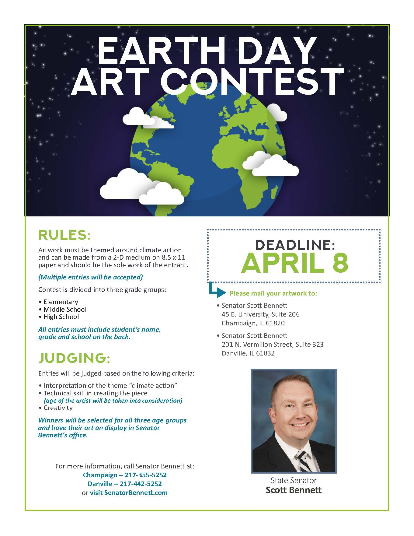 Earth Day Art Contest flyer1